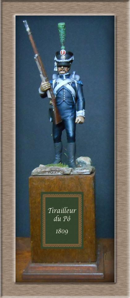 Tirailleur du Pô en 1809 Métal modèles 54mm 74_13813