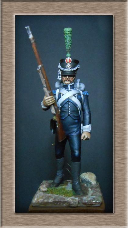 Tirailleur du Pô en 1809 Métal modèles 54mm 74_13916