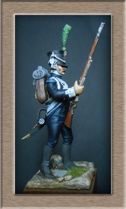Tirailleur du Pô en 1809 Métal modèles 54mm 74_13917