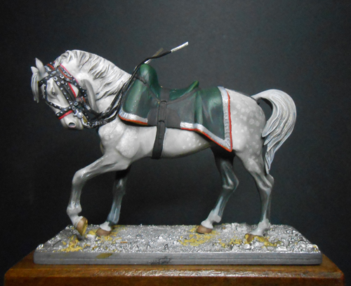 Cheval gris pommelé métal modèles 54mm. 74_95413
