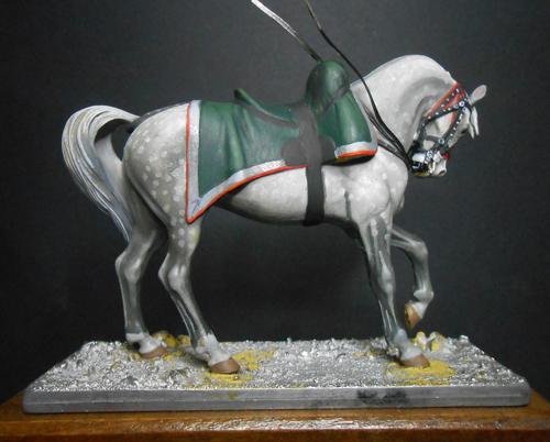 Cheval gris pommelé métal modèles 54mm. 74_96113