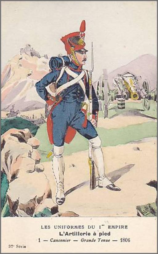 Artilleur à pied de la ligne en 1806 MM 54mm modification Image011