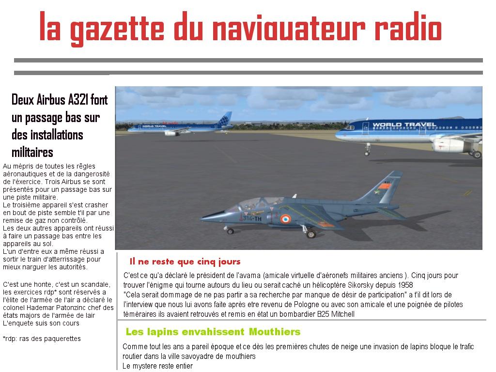 Les vols FSX-France sont dans le journal  Passag10