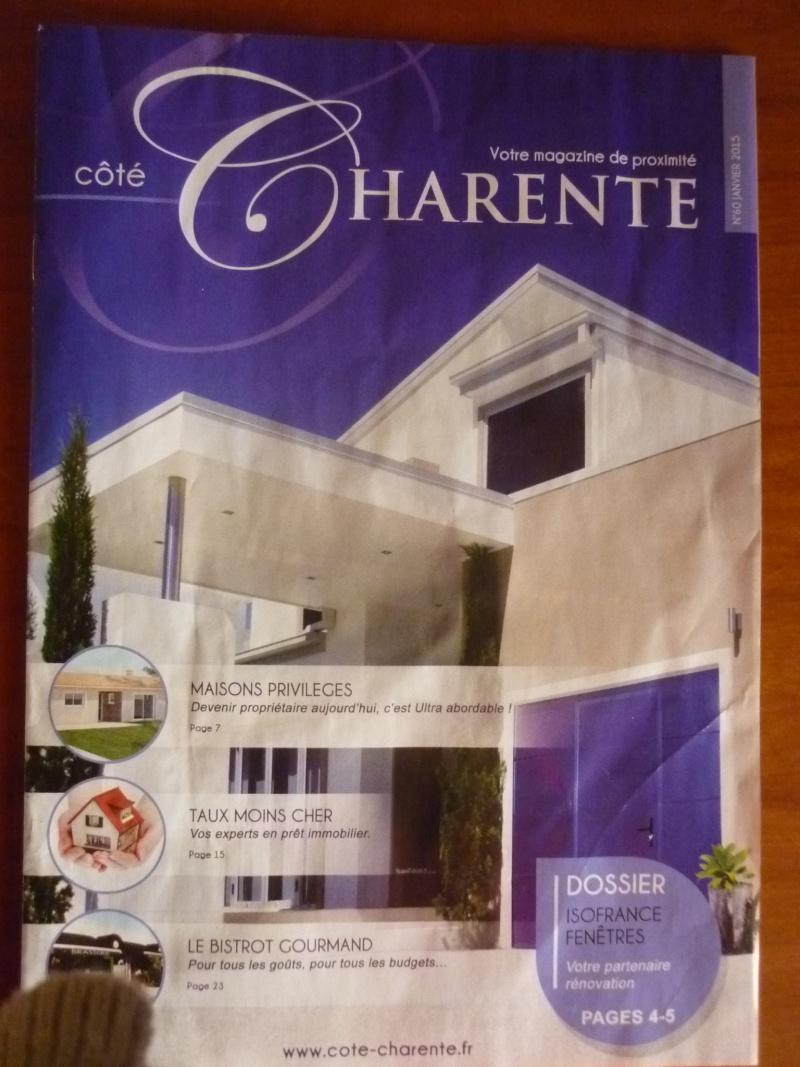 """Une page dans le mensuel """"Coté Charente"""" P1020410"""