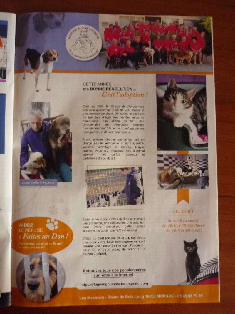 """Une page dans le mensuel """"Coté Charente"""" P1020411"""