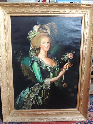 Déclinaisons sur le portraits à la rose en robe bleue, d'après Elisabeth Vigée Lebrun 0f63c110