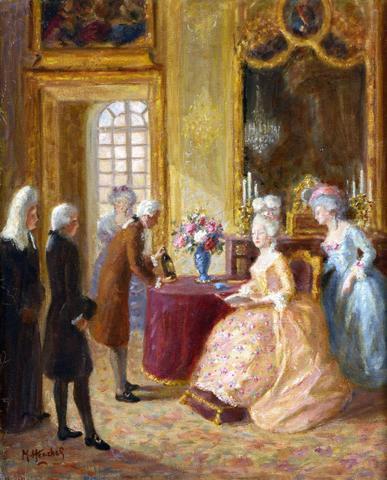 A vendre: tableaux Marie-Antoinette, Versailles et XVIIIe siècle A9afdb10