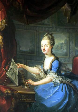"""Résultat de recherche d'images pour """"L'Archiduchesse Antonia au clavecin"""""""