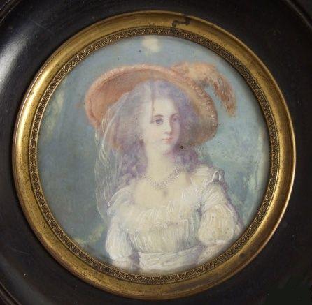 Miniature de Madame de Polignac d'après Madame Vigée Lebrun Zpol12