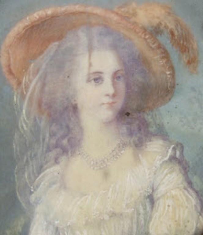 Miniature de Madame de Polignac d'après Madame Vigée Lebrun Zpol13