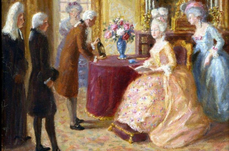 A vendre: tableaux Marie-Antoinette, Versailles et XVIIIe siècle Zwww11