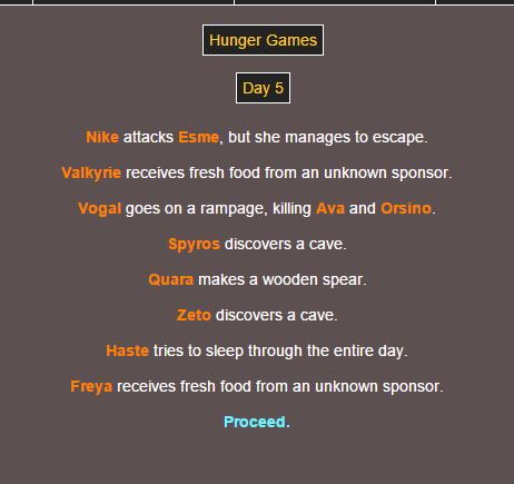 Sotu Hunger Games Simulation~ 1010