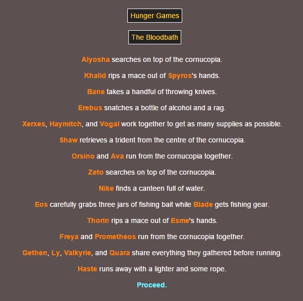 Sotu Hunger Games Simulation~ 111