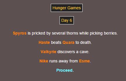 Sotu Hunger Games Simulation~ 1210