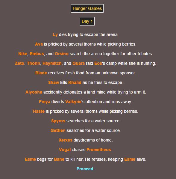 Sotu Hunger Games Simulation~ 210