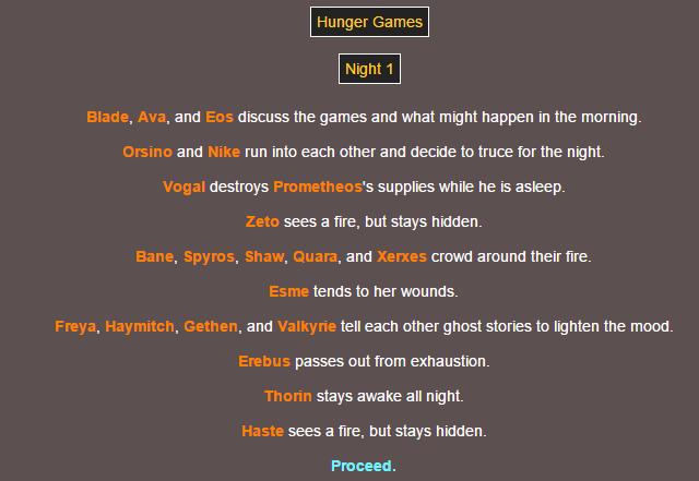 Sotu Hunger Games Simulation~ 310
