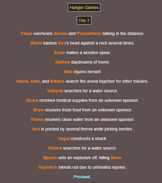 Sotu Hunger Games Simulation~ 410