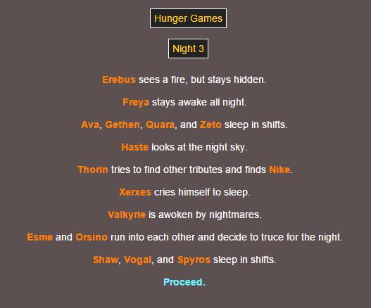 Sotu Hunger Games Simulation~ 710