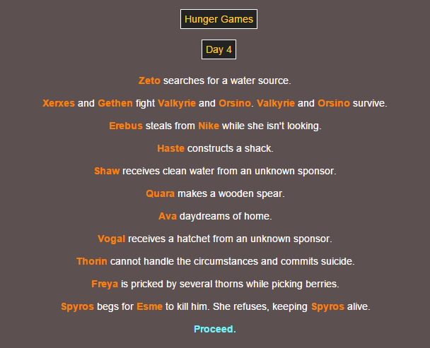 Sotu Hunger Games Simulation~ 810