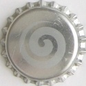 Spirale argentée - Motif doré sur fond bleu 0431710