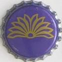 Spirale argentée - Motif doré sur fond bleu 0431810