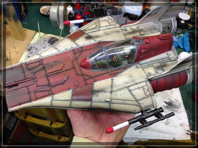 Star Wars A-Wing (Hasbro) Umbemalung Comp_i77