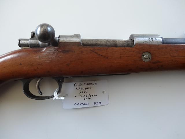 Catégorie de quelques armes longues Mauser10