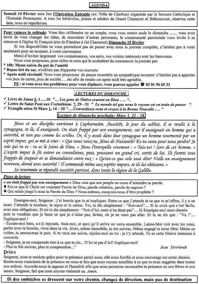 Trait d'Union du 25 janvier 2015 Tu150118