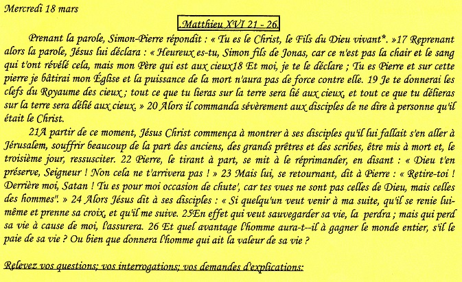 Textes des rencontres oecuméniques Tu150217