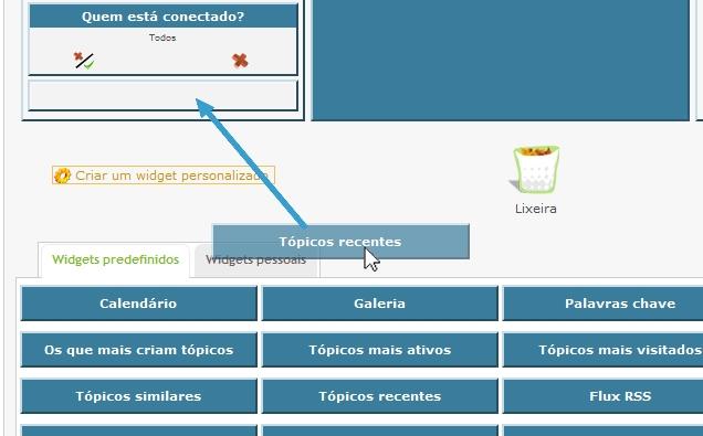 """Atualização do template do widget """"Tópicos recentes"""" Step111"""