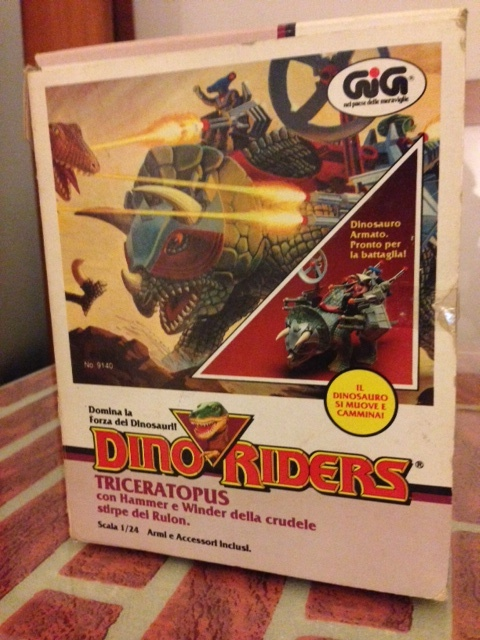 dino riders - DINO RIDERS TRICERATOPUS MIB GIG - € 150 Tricer16