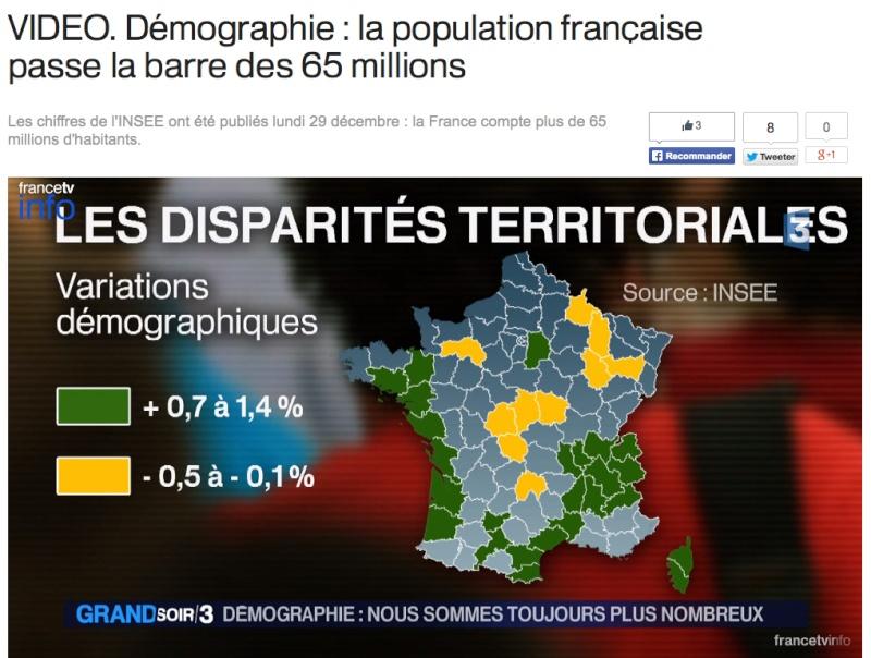 Démographie de la population Française 2014 Popula10