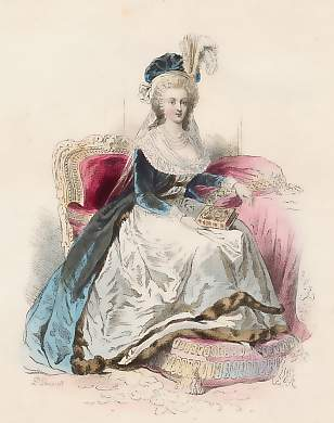 Marie-Antoinette au livre en robe bleue - Page 2 1062610