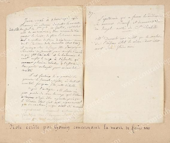 Vente de Souvenirs Historiques - aux enchères plusieurs reliques de la Reine Marie-Antoinette B2858c10