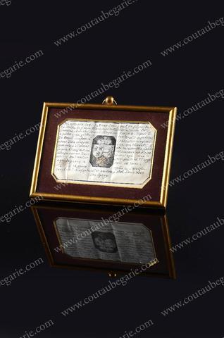 Vente de Souvenirs Historiques - aux enchères plusieurs reliques de la Reine Marie-Antoinette B4264110