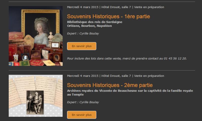 Vente de Souvenirs Historiques - aux enchères plusieurs reliques de la Reine Marie-Antoinette Sans_t11