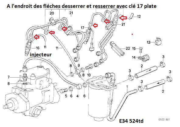 [BMW 524.TD An 1991] Purger le  gasoil  13_m2110