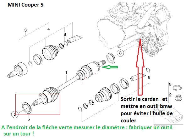 [ mini cooper s an 2009 ] Changer cardan sur boite automatique 31_car11