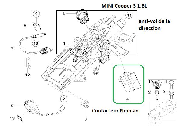 [ Mini Cooper S 1.6 ess an 2003 ] problème centralisation et verrouillage (résolu) 32_con11
