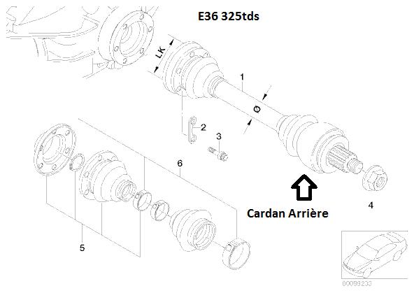 [ BMW E36 325tds M51 an 1995 tremblement pont arriere] 33_e3610