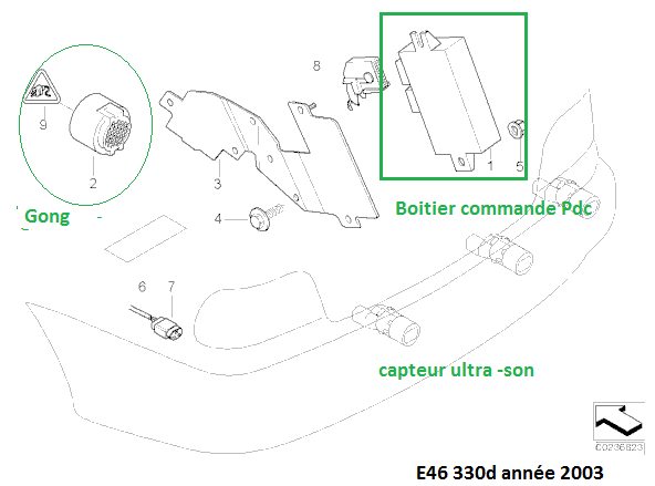 [ BMW E46 330D an 2004 ] Problème radar de recul PDC 66_e4611