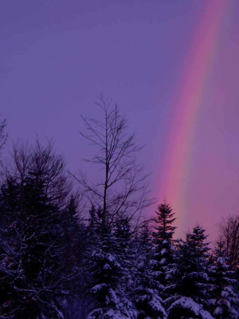 Arc-en-ciel au lever du soleil. Avant la pluie... Dscn0215