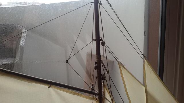 Nouveau voilier sorti de l'horizon.  20150314