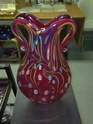 Beautiful red millefiori vase Img_2311