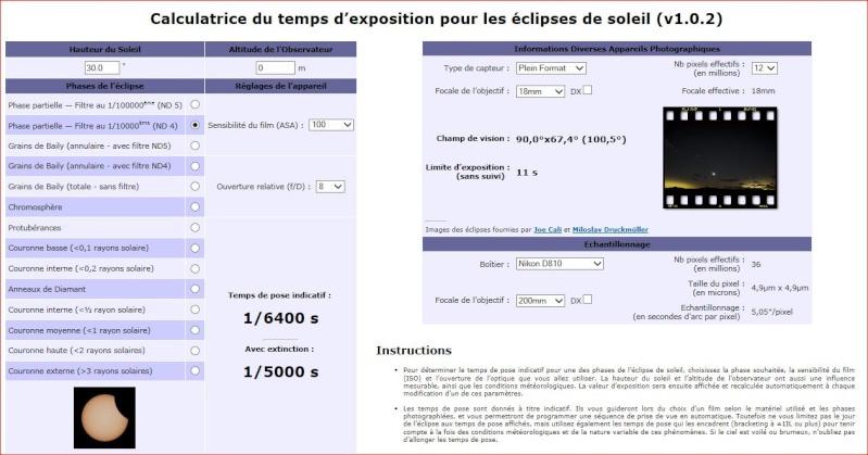 Calculatrice du temps d'exposition pour les éclipses de soleil (v1.0.2) 115