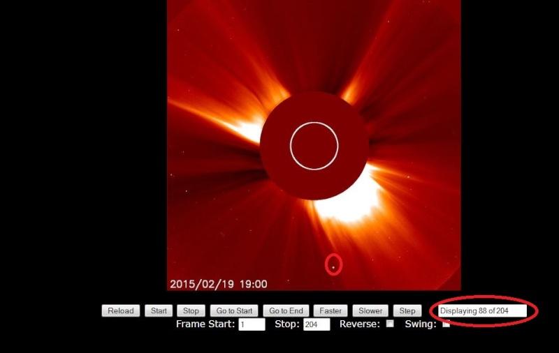 SOHO repère une comète proche du soleil 610