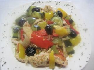 Lamelles de dinde aux légumes du soleil.+ photos. 10389610