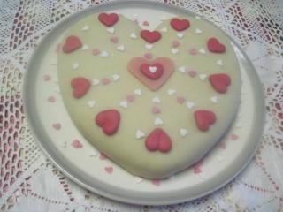 Gâteau de Savoie saint Valentin. 15033910