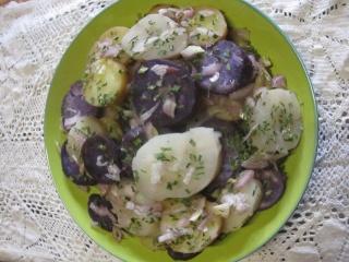 Salade de pommes de terre et topinambour en salade.photos. Img_0636