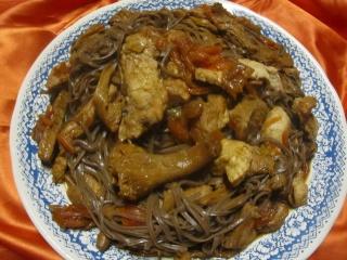 Spaghettis chinoise au poulet et girofle.+ photos. Img_0660